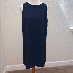 NWOT Ann Taylor Navy Blue Popover Dress Size 10